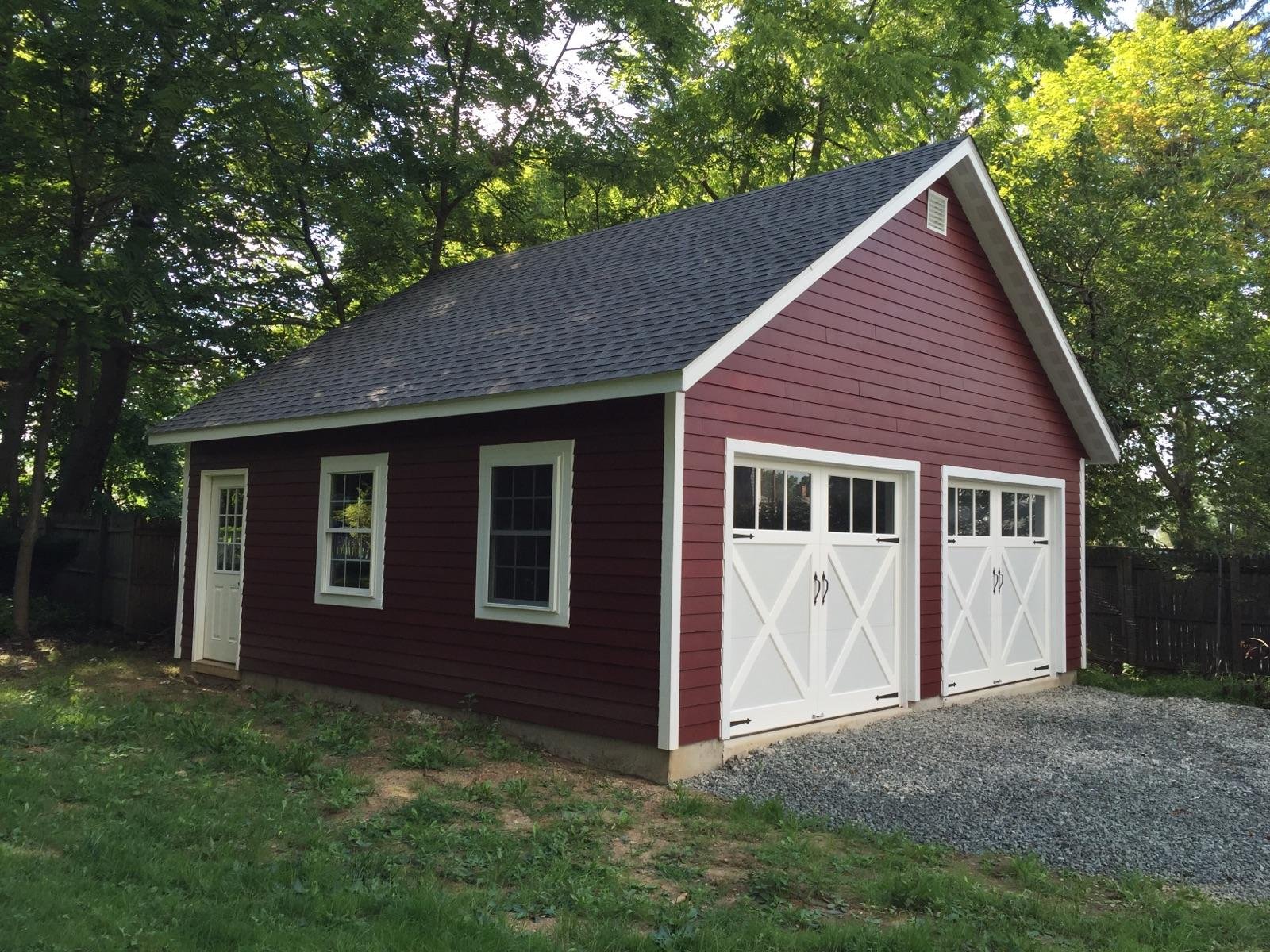 prefabricated pa single garages frame garage structures a amish backyard in sheds