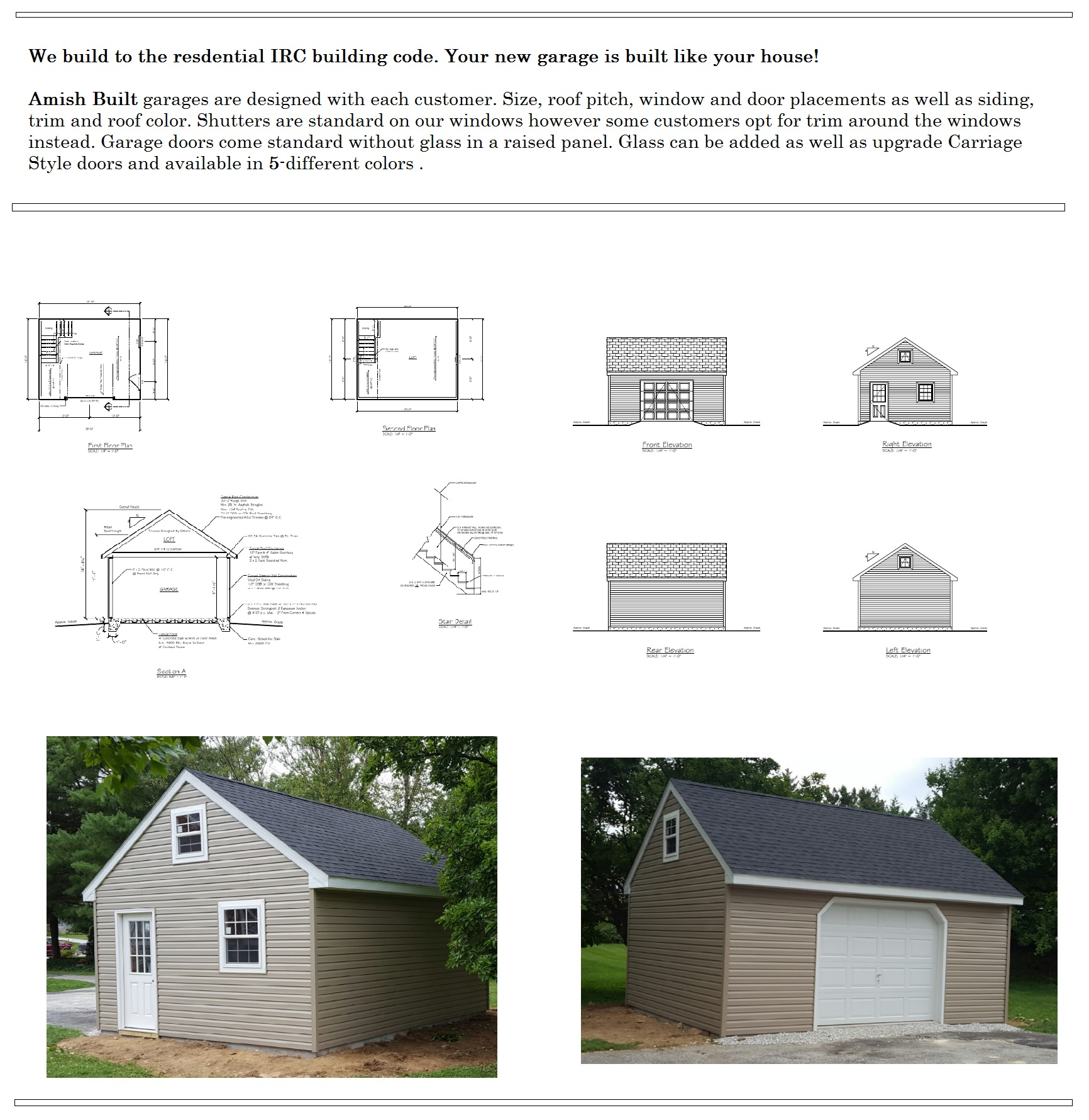 foote story x double wide garage from amish sheds builders bob two